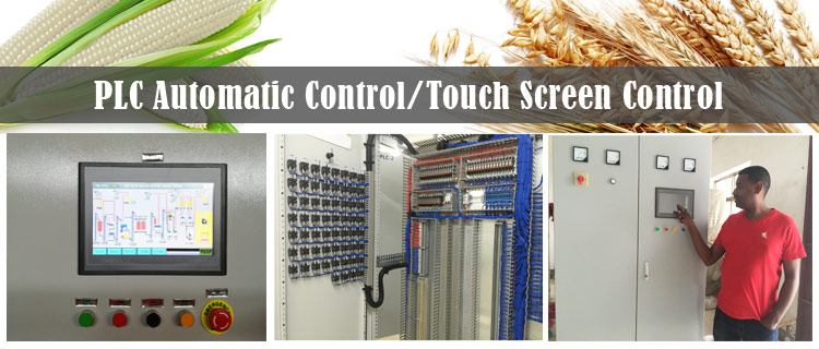 PLC control of flour mill